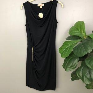 NWT MICHAEL Michael Kors Navy Faux Wrap Dress S